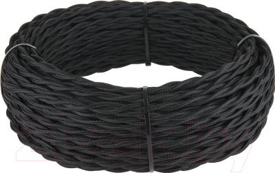 Кабель Werkel Retro витой 3х1.5 (50м, черный)
