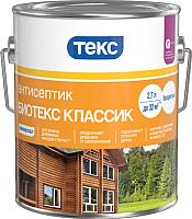 Антисептик для древесины Текс Биотекс Классик Универсал (2.7л, рябина) -