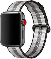 Ремешок для умных часов Miru 4048 для Watch SN-02 (нейлон полоска, черная полоса) -