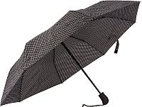 Зонт складной Cruise 630 (черный/белый горошек) -