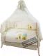 Комплект постельный в кроватку Perina ГЛОРИЯ Г7-01.0 (Happy days) -