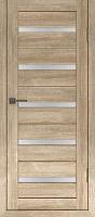 Дверь межкомнатная Лайт 7 80x200 (дуб мокко/стекло белый сатинат) -