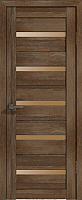 Дверь межкомнатная Лайт 7 60x200 (дуб трюфель/стекло бронза сатин) -