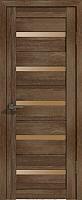 Дверь межкомнатная Лайт 7 70x200 (дуб трюфель/стекло бронза сатин) -