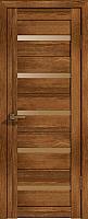 Дверь межкомнатная Лайт 7 80x200 (корица/стекло бронза сатинат) -