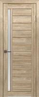 Дверь межкомнатная Лайт 9 80x200 (дуб мокко/стекло белый сатинат) -