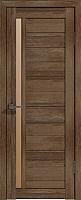Дверь межкомнатная Лайт 9 70x200 (дуб трюфель/стекло бронза сатин) -