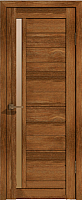Дверь межкомнатная Лайт 9 60x200 (корица/стекло бронза сатинат) -