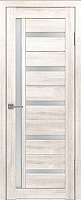 Дверь межкомнатная Лайт 18 80x200 (латте/стекло белый сатинат) -