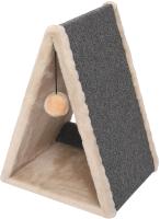 Домик-когтеточка Cat House Треугольная 0.55 (ковролин бежевый) -