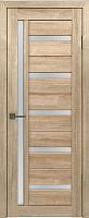 Дверь межкомнатная Лайт 18 80x200 (дуб мокко/стекло белый сатинат) -