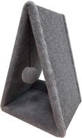 Домик-когтеточка Cat House Треугольная 0.55 (ковролин серый) -