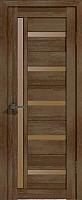 Дверь межкомнатная Лайт 18 80x200 (дуб трюфель/стекло бронза сатин) -