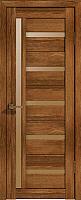 Дверь межкомнатная Лайт 18 80x200 (корица/стекло бронза сатинат) -
