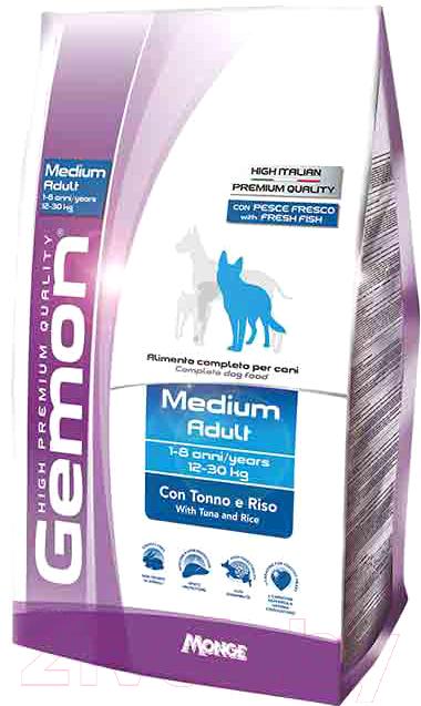 Купить Корм для собак Gemon, Adult Medium Tuna&Rice (3кг), Италия