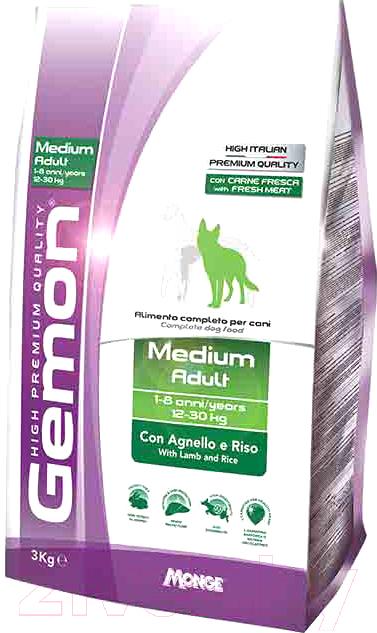 Купить Корм для собак Gemon, Adult Medium Lamb&Rice (3кг), Италия