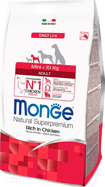 Купить Корм для собак Monge, Daily Mini Adult Rich in Chicken (3кг), Италия