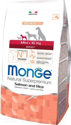 Купить Корм для собак Monge, Speciality Mini Adult Salmon&Rice (0.8кг), Италия