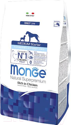 Купить Корм для собак Monge, Daily Medium Starter Rich in Chicken (15кг), Италия