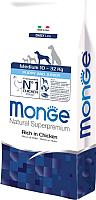 Корм для собак Monge Daily Medium Puppy&Junior Chicken&Rice (15кг) -