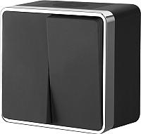 Выключатель Werkel Gallant WL15-03-02 (черный/хром) -