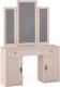 Туалетный столик с зеркалом Глазов Montpellier 2 (дуб млечный) -