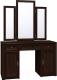 Туалетный столик с зеркалом Глазов Montpellier 2 (орех шоколадный) -