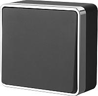 Выключатель Werkel Gallant WL15-01-01 (черный/хром) -