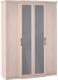 Шкаф Глазов Montpellier 1 4-х дверный (дуб млечный) -