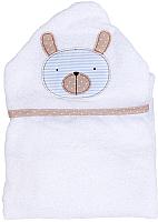 Полотенце с капюшоном Alis Белая коллекция. Зайка (75x110, махра) -