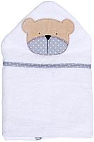 Полотенце с капюшоном Alis Белая коллекция. Мишка (75x110, махра) -