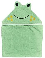 Полотенце с капюшоном Alis Цветная коллекция. Лягушка (75x110, махра) -