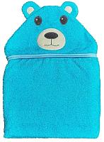 Полотенце с капюшоном Alis Цветная коллекция. Мишка (75x110, махра) -