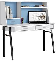 Письменный стол Polini Kids Aviv 1455 (белый/голубой) -