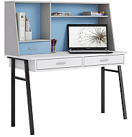 Письменный стол Polini Kids Aviv 1455 (белый/серый/голубой) -