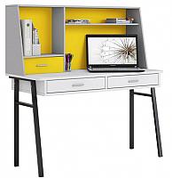 Письменный стол Polini Kids Aviv 1455 (белый/серый/желтый) -