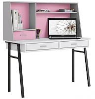 Письменный стол Polini Kids Aviv 1455 (белый/серый/розовый) -