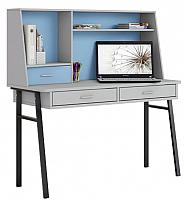 Письменный стол Polini Kids Aviv 1455 (серый/серый/голубой) -