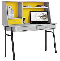 Письменный стол Polini Kids Aviv 1455 (серый/серый/желтый) -