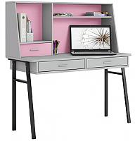 Письменный стол Polini Kids Aviv 1455 (серый/серый/розовый) -