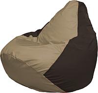Бескаркасное кресло Flagman Груша Медиум Г1.1-93 (темно-бежевый/коричневый) -