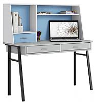 Письменный стол Polini Kids Aviv 1455 (серый/белый/голубой) -