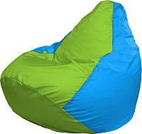 Бескаркасное кресло Flagman Груша Медиум Г1.1-168 (салатовый/голубой) -