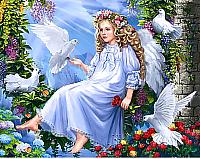 Набор алмазной вышивки Wizardi Ангел и голуби / WD2405 -