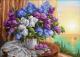 Набор алмазной вышивки Алмазная живопись Сирень у окна / АЖ-1819 -