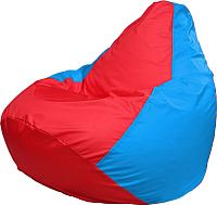 Бескаркасное кресло Flagman Груша Медиум Г1.1-179 (красный/голубой) -