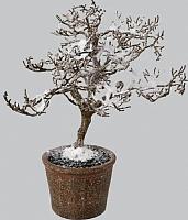 Искусственное растение Gasper 1119501-44 (коричневый/заснеженный) -