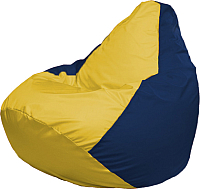 Бескаркасное кресло Flagman Груша Медиум Г1.1-248 (жёлтый/тёмно-синий) -