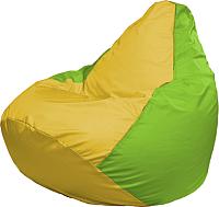 Бескаркасное кресло Flagman Груша Медиум Г1.1-256 (жёлтый/салатовый) -