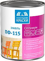 Эмаль Ленинградские краски Оптимум ПФ-115 глянцевая (1.9кг, ярко-желтый) -